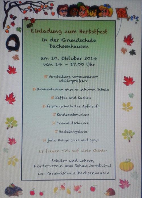 Herbstfest-Einladung